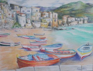 Boats at Cefalu, NFS