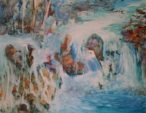 Merging Water (on YUPO paper), Sold