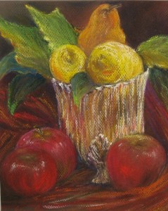 Still Life with Lemons pastel, Sold