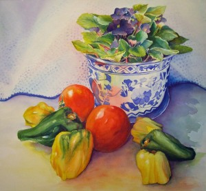 Still Life with Peppers, Sold