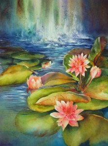 """Water Lilies, 24x30"""""""